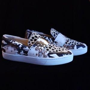 Loeffler Randall Irini Calf Hair Sneakers / Loafer